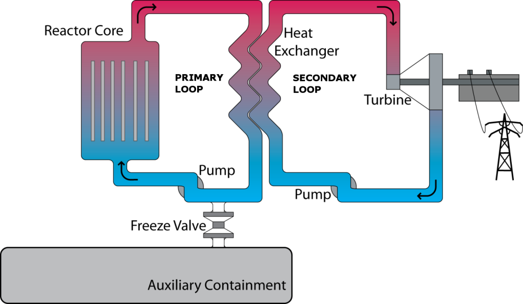 Schmatic of Transatomic Power's Waste Annihilating Molten Salt Reactor (WAMSR)