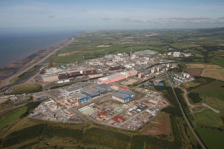 Aerial shot of Sellafield