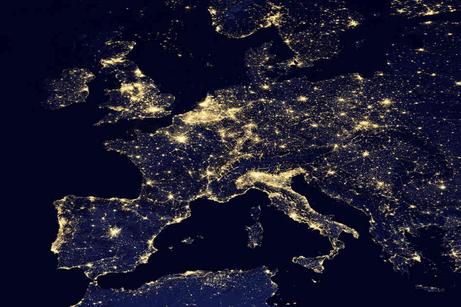 europe light pollution